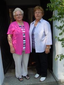 Christine Fütterer und Monika Mark (Mesner Gleißenthal)